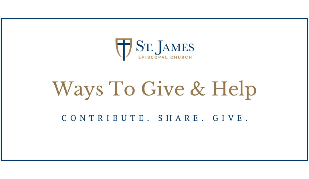 Ways to Give & Help