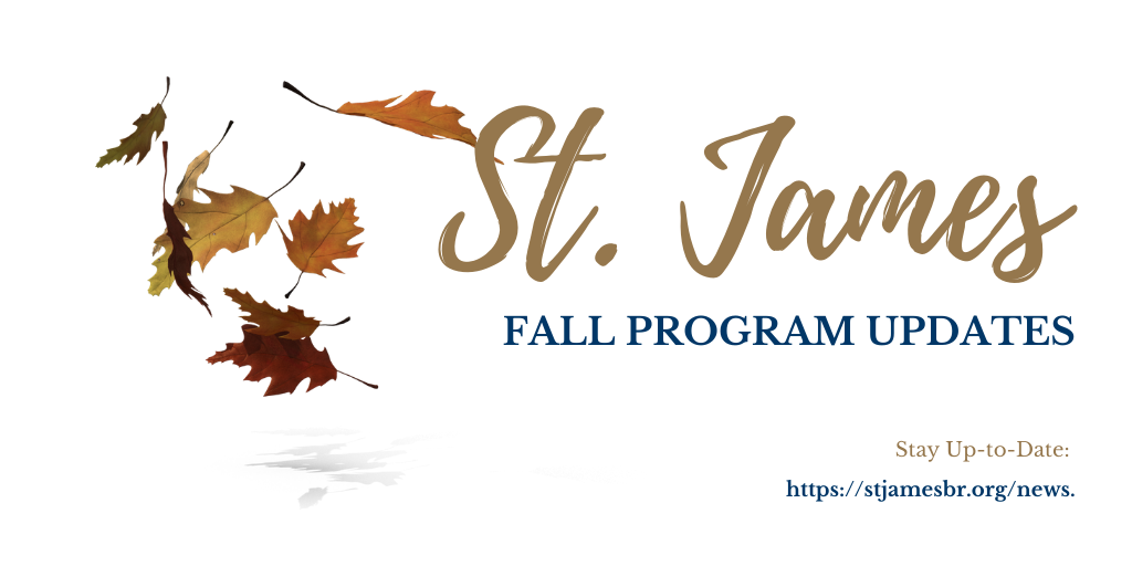 Fall Program Updates!